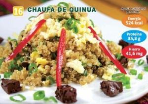 RECETA DE CHAUFA DE QUINUA Y SANGRECITA